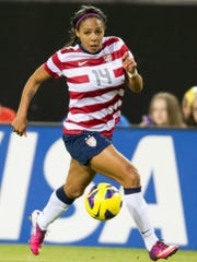 Sydney Leroux of the United States national team competes