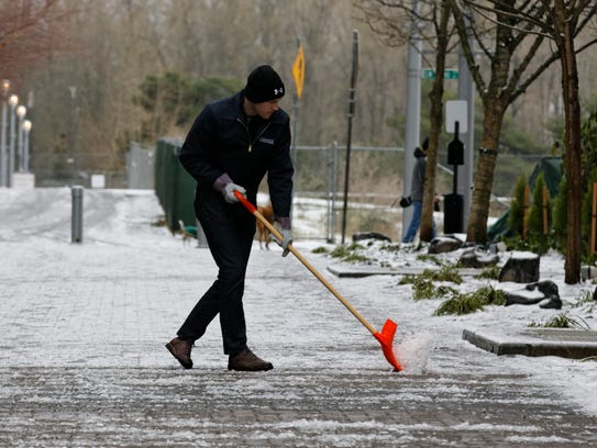 This guy has it right -- try to stay upright when shoveling
