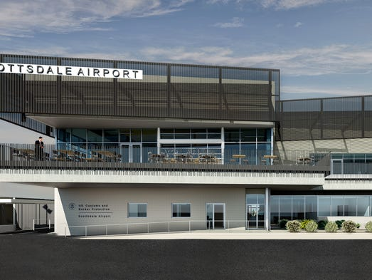 A rendering of the new Aviation Business Center at