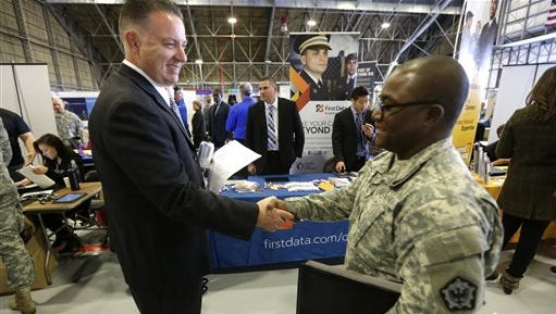 The past year may have been the best ever for employment of the latest generation of veterans, government data show.