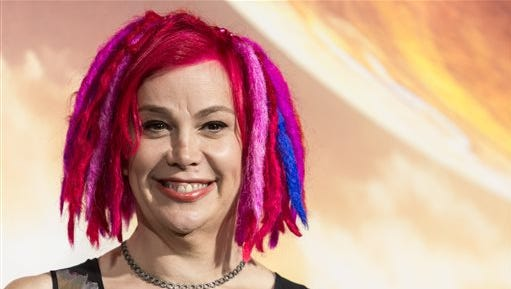 """Lana Wachowski attends the premiere of Warner Bros. Pictures' """"Jupiter Ascending"""" at TCL Chinese Theatre on Monday, Feb. 2, 2015, in Hollywood, Calif. (Photo by Paul A. Hebert/Invision/AP)"""