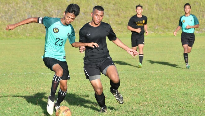 The Tiyan Titans played the John F. Kennedy Islanders in an Independent Interscholastic Athletic Association of Guam Boys Soccer match at Tiyan High on Nov. 9, 2016.