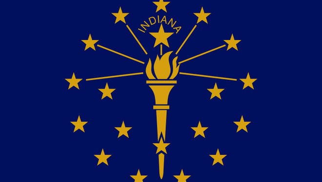 The flag of Indiana was designed by Paul Hadley and officially adopted by the state of Indiana on May 31, 1917.
