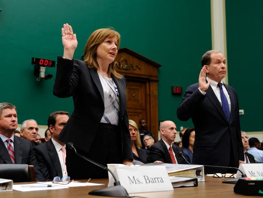 GM CEO Mary Barra and investigator Anton Valukas are