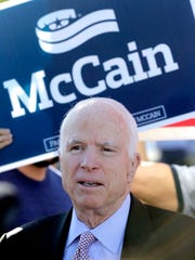 U.S. Sen. John McCain, R-Ariz., caused a stir Monday