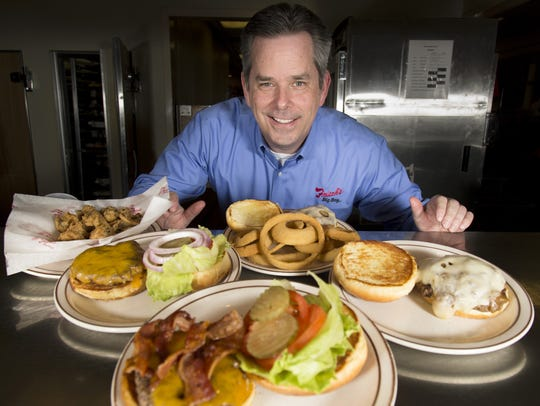 Frisch's CEO Jason Vaughn poses in the kitchen at the