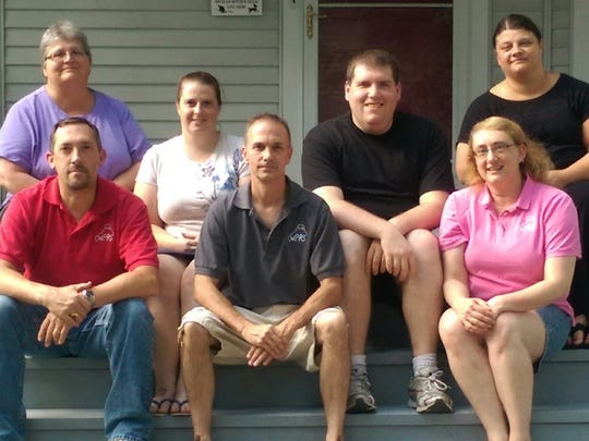 The Wausau Paranormal Research Society has seven members. From left to right first row : Shawn Blaschka, Bill Beaudry, Betsy Duginski second row: Sharon Williams, Sara Shaw, Nick VonGnechten, Anji Spialek.