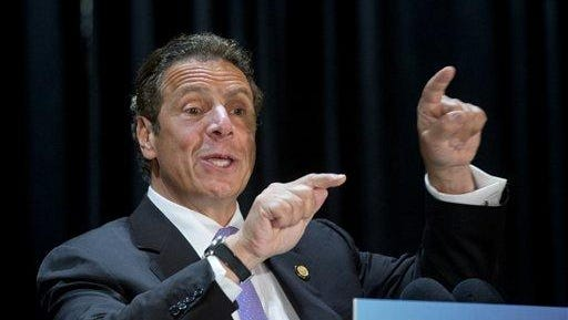 Gov. Andrew Cuomo said Wednesday he wants to put $22 billion toward upstate's aging roads and bridges and spend $1 billion to freeze tolls on the state Thruway.
