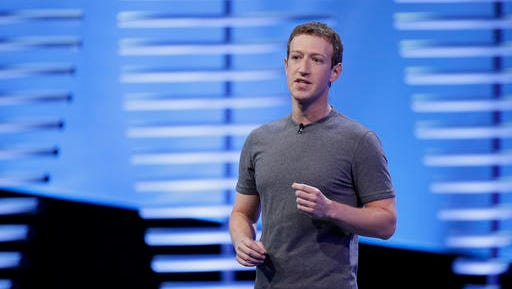 """FILE- In this April 12, 2016, file photo, Facebook CEO Mark Zuckerberg speaks during the keynote address at the F8 Facebook Developer Conference in San Francisco. CEOs of major companies are taking stands about the results of the November 2016 U.S. election, a departure from the traditional model of not mixing politics with business that the major brands have long espoused. Zuckerberg said """"progress does not move in a straight line."""""""