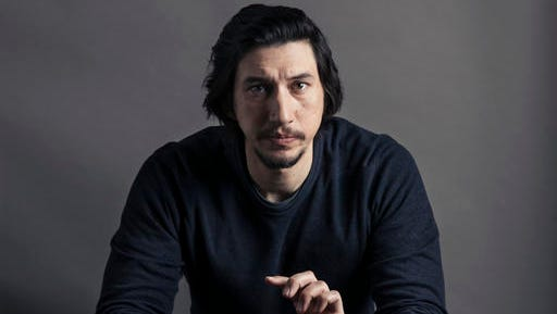 """This Dec. 14, 2016 photo shows actor Adam Driver poses for a portrait in New York. Driver stars in the films, """"Paterson,"""" and """"Silence."""""""