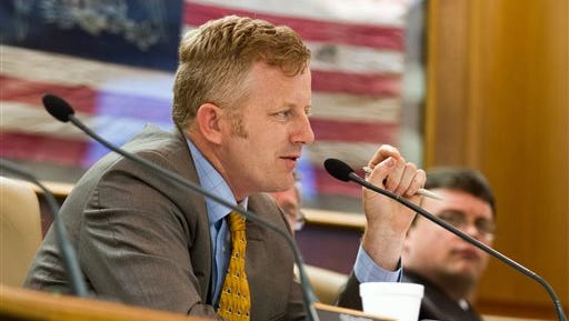 Republican state Sen. Stacey Campfield of Knoxville speaks in Nashville.