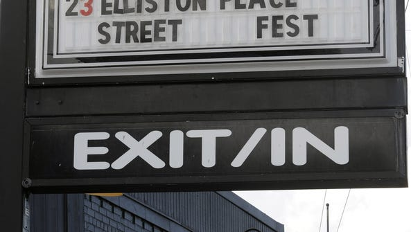 Exit/In displays its concert lineup outside along Elliston
