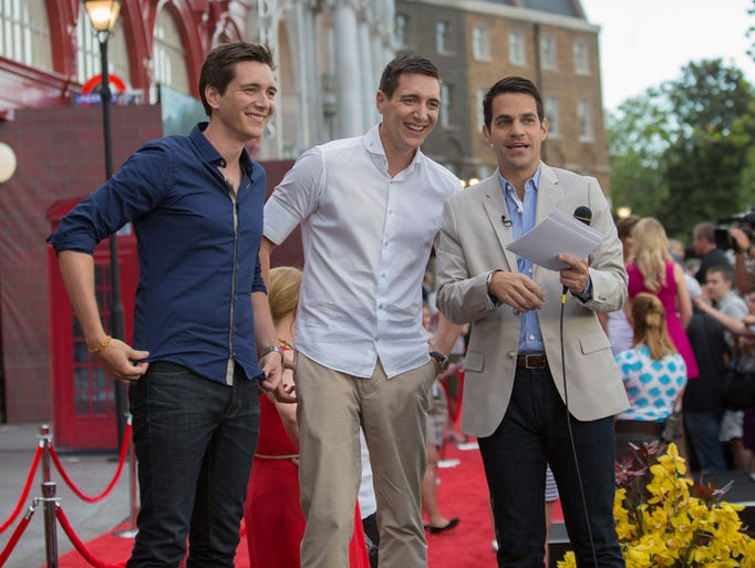 James and Oliver Phelps were at the July 2014 opening