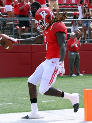 Speedster Janarion Grant (file) will be back for Rutgers this season