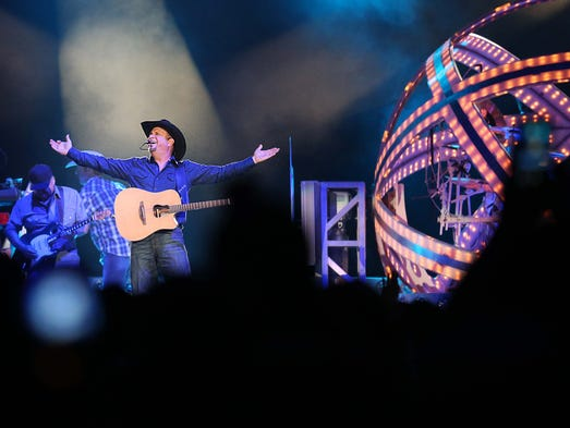 Garth Brooks in concert at Wells Fargo Arena on Friday,