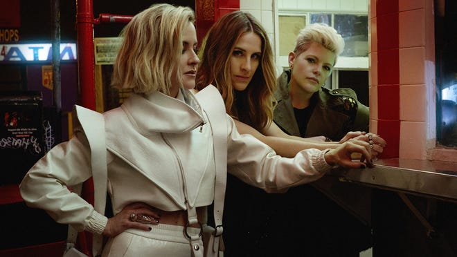 """The Chicks (l-r, Martie Maguire, Emily Strayer and Natalie Maines) are releasing """"Gaslighter,"""" their first album in 14 years, this week."""