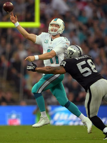 The Dolphins and Raiders last met on the field in London.