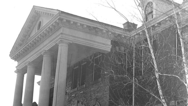 The front entrance to the administration building of the former Michigan State Sanatorium. The facility in Marion Township will be the subject of a program this month at the Historic Howell Theater.