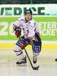 Chad Billins #4 of Linkoping HC skates against  Djurgarden