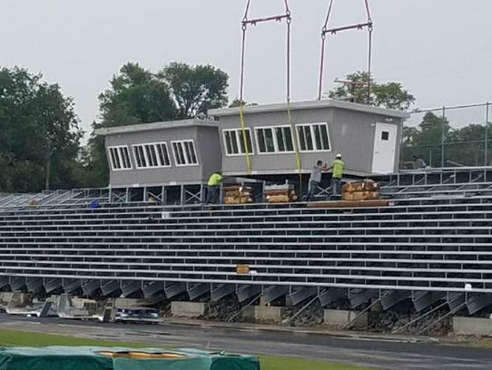 East High's new football stadium.