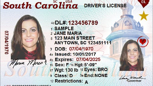 Newest South Carolina ID card will also meet federal guidelines