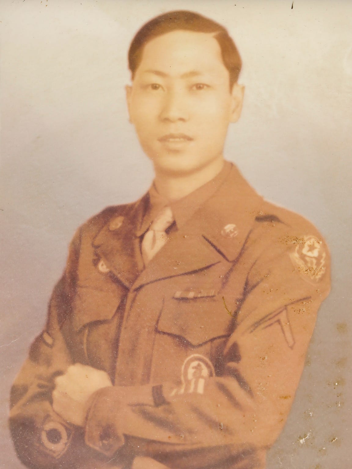 David Leong entered the U.S. Army in 1942 and was honorably discharged on Dec. 1, 1945.