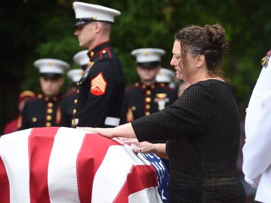 Anna Johnson, widow of U.S. Marine Corps Gunnery Sgt.