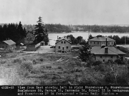 This 1940s-era photo shows several Fort Ward buildings,