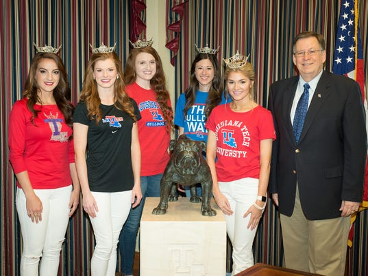 Dr. Guice with 2016 Miss Louisiana Contestants