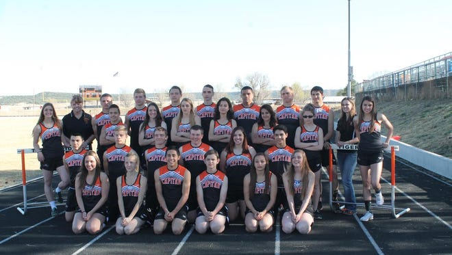 Capitan's track and field teams have seven individuals and one team qualified for the state championship in May.