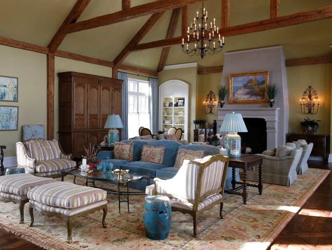 The greatroom is one of many rooms that are accented
