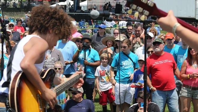 Lions on the Moon performed during the 2015 Pleasantville Music Festival. The festival announced its 2016 lineup Monday.