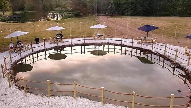 Madeline's Dining and Events in Cranesville has remodeled one of their ponds in the backyard to accommodate outdoor seating. They started with six tables. This weekend, they expect to have 15 available.