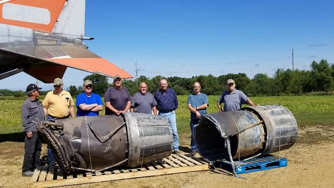 The Northwest Illinois F-4 Jet Memorial committee has continued to work on planning and building the memorial. Pictured, from left: Henry Saavedra, Mike Brose, Bing Wells, Gary Buss, Tim Schoeny, Jeff Zipsi, Bob Welch and Terry Yount.
