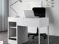 A desk in Ikea's Micke series of office furniture.