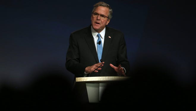 SAN FRANCISCO, CA - JANUARY 23:  Former Florida governor Jeb Bush speaks during the 2015 National Auto Dealers Association (NADA) conference on January 23, 2015 in San Francisco, California. Bush, who now owns a private consulting firm in Florida, recently announced that he is actively seeking support for a potential 2016 US presidential campaign. (Photo by Justin Sullivan/Getty Images) ORG XMIT: 533509539 ORIG FILE ID: 462042072