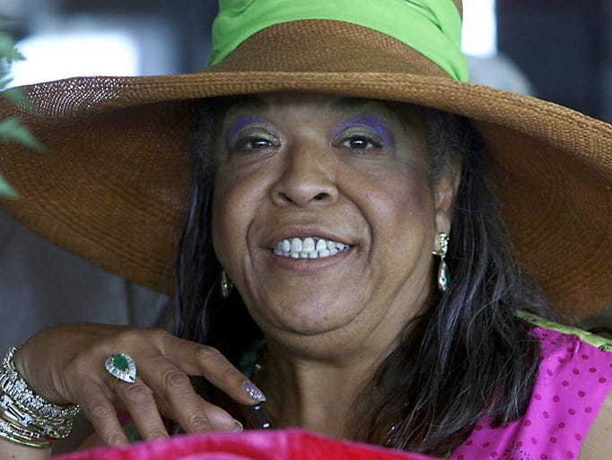 Actress Della Reese at the Kentucky Derby in Louisville,