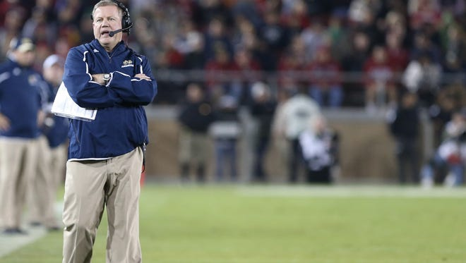 Notre Dame Fighting Irish head coach Brian Kelly in November of 2013.