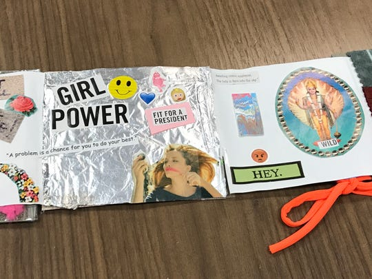 "A journal made by a middle school girl participating in the ""Lady Lead"" program."