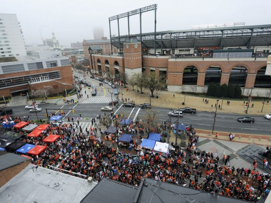 Camden Yards is the home of the Baltimore Orioles.