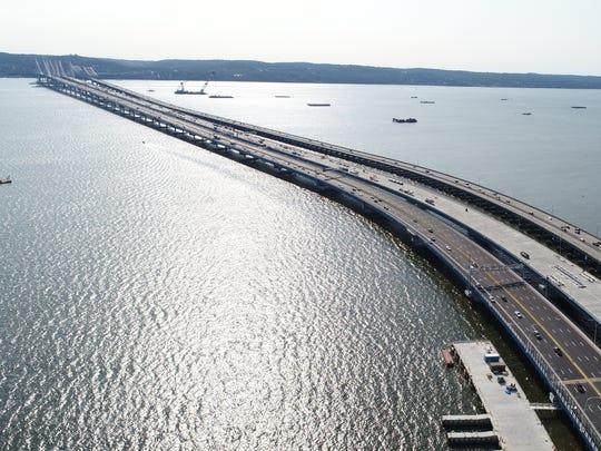 The Mario Cuomo Bridge and the Tappan Zee Bridge on