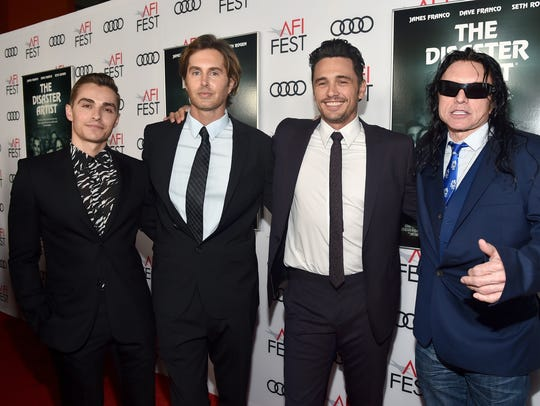Dave Franco, Greg Sestero, James Franco and Tommy Wiseau