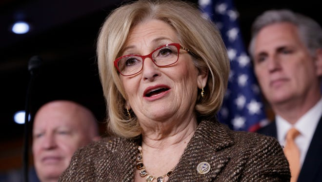 House Budget Committee Chair Rep. Diane Black, R-Tenn. speaks on Capitol Hill in Washington.