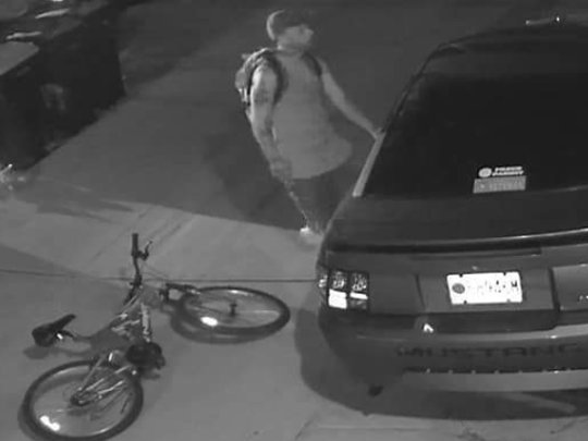 The image of a suspect in a theft from a car was captured by surveillance video. West Allis police are asking for help to identify the man.