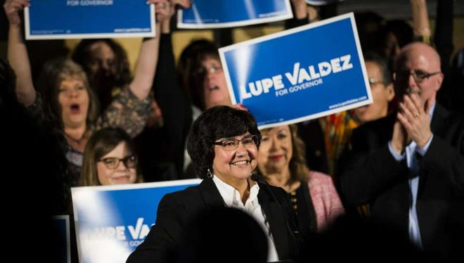 Former Dallas County Sheriff Lupe Valdez is the first openly gay candidate to win a major party nomination for a statewide office in Texas.