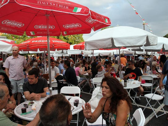People eat and enjoy Festa Italiana, a four-day celebration
