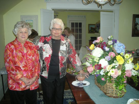 Jane Hutcheson, left, and Sybil Carter were among those