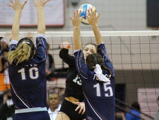 PCA sophomore Gabriella Kellogg (13) drives the ball