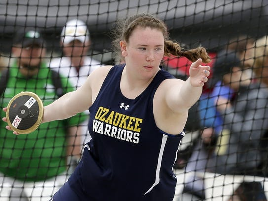 Ozaukee's Emma Richards competes in the Division 3