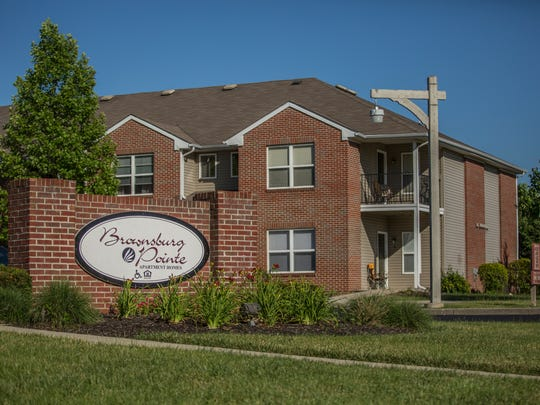 The Brownsburg Pointe Apartments, where FBI agents raided the home of suspected Islamic State sympathizer Akram Musleh.